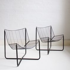 Charmant Black Jarpen Wire Lounge Chair By Niels Gammelgaard