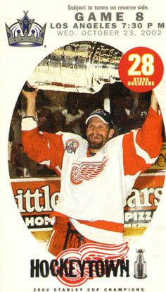 Steve Duchesne (born June 30, 1965) is a Canadian retired professional ice hockey defenceman who played in the NHL with several teams from 1986 until 2002. He was a three-time NHL All-Star and was a member of the 2001–02 Stanley Cup champion Detroit Red Wings.