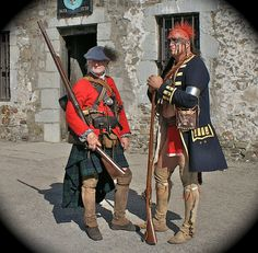 Highland Soldier and Mohawk Warrior, Reenactment