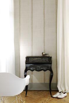 Papel de parede de vinil com efeito de tecido SARI by Élitis