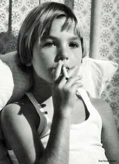 """Tatum O'Neil Smoking"""