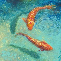 Wholesale Price High Quality Hand Painted Abstract Animals Carp Oil Painting On Canvas Abstract Fish Paintings On Canvas(China (Mainland))
