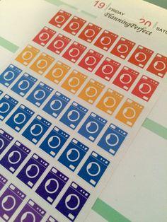 Washing Machine Laundry Stickers for Erin by PlanningPerfect  #planner #stickers #erincondren #lifeplanner #kikkik #plumpaperplanner #filofax #planning #scrapbook #laundry #washer #dryer #washing machine #clothes #cleaning #house
