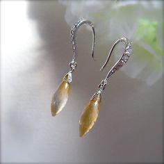 Mothers Day Gemstone Earrings Dangle Dew Natural AAA by JJKZ, $32.00