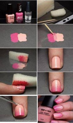 ombre nails! Is so cool I already make it and it works is amazing