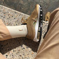 Sneakers women - Nike Air Max 97 and YSL socks (©alinaleluda) Nike Air Max, Air Max 97, Nike Air Force, Nike Sneakers, Sneakers Fashion, Sneakers Women, Yellow Sneakers, Shoes Men, Sneaker Store