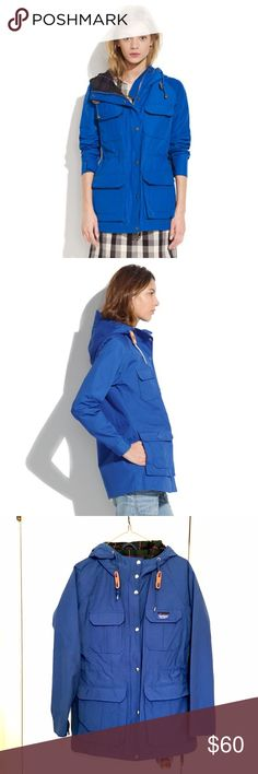 penfield® vassan blue jacket (madewell) Massachusetts-based Penfield has been churning out top-notch, weather-resistant outerwear—coveted by fans of heritage-style clothing and outdoor enthusiasts alike—since 1975. We're so smitten with this quintessential rain jacket that we're actually begging for a cloudy day.  True to size. Poly/cotton. Machine wash. Import. Item A4028. Penfield Jackets & Coats Utility Jackets