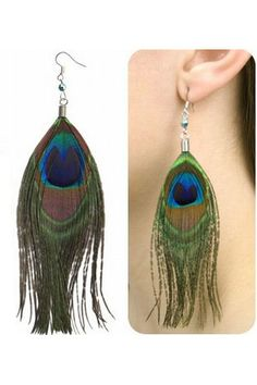 peacock lingerie | Shimmering Peacock Feather Earrings - Cheap Sexy Lingerie Wholesale ...