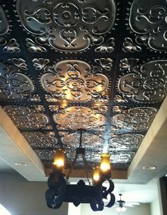 Talissa Decor Faux Tin Products.  Products for backsplash or to cover an ugly ceiling.