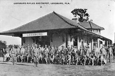 Florida Memory - Leesburg Rifles and depot - Leesburg, Florida
