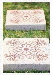 I am doing this with some stepping stones this year.