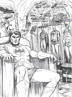 Batman in the Batcave by Mark Spears