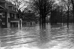 Unpublished. The Great Ohio River Flood, Louisville, Kentucky, 1937.      Read more: http://life.time.com/photographers/behind-the-picture-bourke-whites-american-way-billboard-and-the-great-flood-of-1937/#ixzz1qopIk0Wu