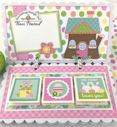 Doodlebug Design Inc Blog: Easter Express Collection: Scalloped Mini Album by Traci Penrod