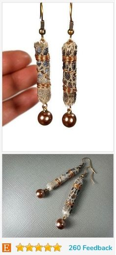 CLICK to see handmade earrings made with fabric! These  will make your outfit so unique!
