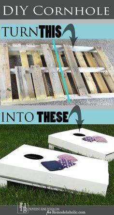 Budget-Friendly DIY Cornhole Set from a Pallet