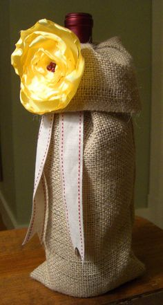 How to: sew a burlap wine bag