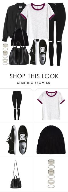 """Style #11639"" by vany-alvarado ❤ liked on Polyvore featuring Topshop, H&M, Vans, Yves Saint Laurent and Forever 21"