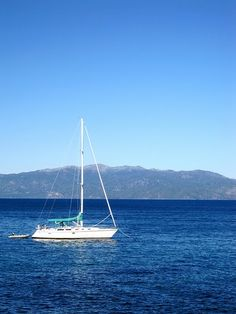 Sailing, Lake Tahoe...look forward to doing this again one day...part of the best vaca ever!