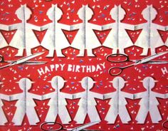 Vintage Wrapping Paper  Paper Chain Celebration  by TillaHomestead, $6.00