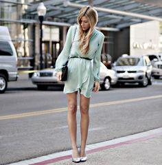 Mint green dress=perfect!