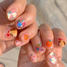 Cute Acrylic Nails, Cute Nail Art, Pretty Nail Art, Funky Nails, Dope Nails, My Nails, Colorful Nails, Minimalist Nails, Nail Swag