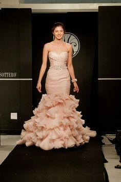 I love the color of this bridal gown! Maggie Sottero Runway Show, Spring 2013