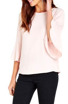 Free shipping and returns on Wallis Lantern Sleeve Top at Nordstrom.com. Sweetly flared lantern sleeves frame an otherwise streamlined blouse, adding fluttery movement to a date-night staple.