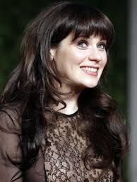 Zooey Deschanel Hair Layers Zooey Deschanel Half U...