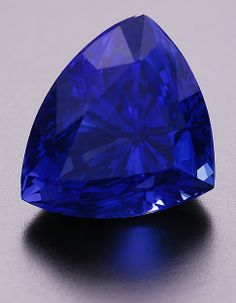 Slightly included, but a beautiful blue color sapphire trillion weighing 3.4 cts, from Madagascar.