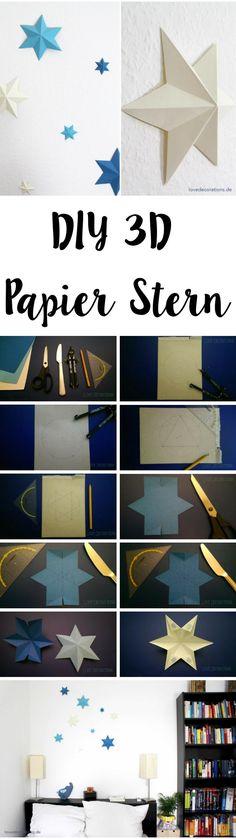 DIY 3D Papier Stern | DIY 3D Paper Star