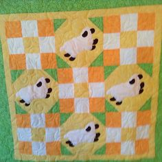 Cute baby quilt we finished longarm quilting! #longarmquilted #longarmquilter #longarmquilting #babyquilt #babyblanket