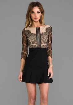 Three Floor x REVOLVE Shades of Black Dress in Black