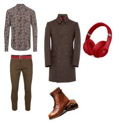 """""""Untitled #73"""" by federica-camilla-guerrera on Polyvore featuring Yves Saint Laurent, Dsquared2, Beats by Dr. Dre, GANT, men's fashion and menswear"""