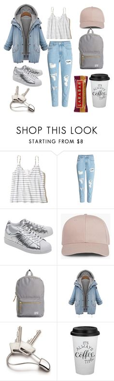 """walk the dog"" by alazara88 ❤ liked on Polyvore featuring Hollister Co., adidas Originals, Herschel Supply Co. and Georg Jensen"