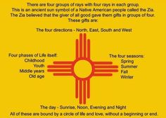 Zia Indians of New Mexico regard the Sun as a sacred symbol.Their symbol,a red… Hobbs New Mexico, New Mexico Style, New Mexico Homes, New Mexico Usa, Mexico Flag, Native American Symbols, Native American Indians, Cherokee Symbols, Tattoo Symbole