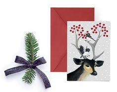 Christmas Card Digital Christmas Cards Printable by PRINTSPIRING