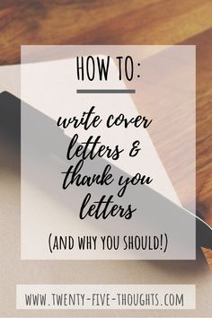 Today we're discussing how to write a good cover letter & thank you letter when applying for a new job. Best Cover Letter, Writing A Cover Letter, Cover Letters, Thank You Letter, Letter G, Career Advice, Job Career, Resume Tips, Resume Examples