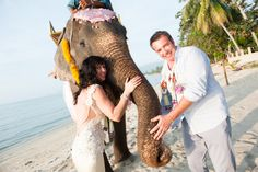 Dau, the faraway Elephant, adds excitement and fun to your wedding ceremony.