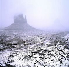 Monument Valley in the winter