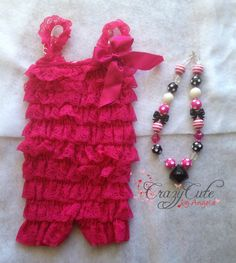 Minnie Mouse Inspired Lace Romper and by CrazyCuteByAngela on Etsy, $20.00