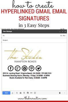 Hyperlinked Gmail Email Signatures in 3 Easy Steps