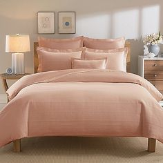 The extra plush Real Simple® Linear Duvet Cover transforms your bed into a chic place to sleep. The bedding brings clean sophistication and rich texture into your bedroom with its ribbed Matelasse design woven in luxuriously soft cotton.