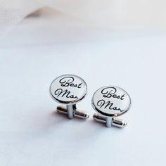 Manžetové knoflíčky Best man #bestman #wedding #cuffs #cufflinks #handmade #crystal #resin Wedding Cufflinks, Groom, Random, Accessories, Design, Grooms, Casual, Ornament