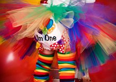 First Birthday Bloomers Balloons Circus Rainbow Girl by whimsytots, $25.00