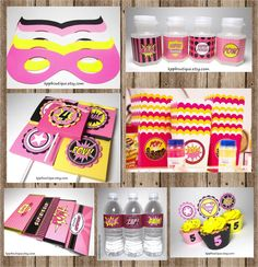 Girl+Superhero+Birthday++Party+Package+by+kppboutique+on+Etsy,+$128.00