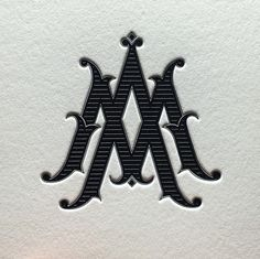 to working with on this letterpress monogram for an Alchemy Coffee project with about a year ago. Vintage Monogram, Vintage Lettering, Hand Lettering, Monogram Design, Logo Design, M Monogram, Wine Logo, Initials Logo, Wedding Logos