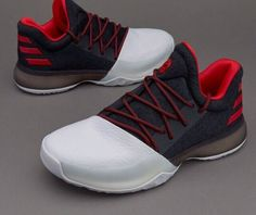 0b6a233b43f Adidas James Harden Vol. 1 J Low Shoes Black White Redl Boys Youth SZ  Condition is New with box.