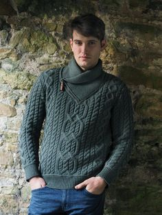 ZIP SHAWL NECK SWEATER SH4712