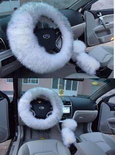 Winter Wool Car Steering Wheel Cover – WINTER COVER CAR Car Interior Accessories, Car Interior Decor, Cute Car Accessories, Pink Car Interior, Best Cars For Teens, Car Steering Wheel Cover, Girly Car, Car Gadgets, Car Hacks